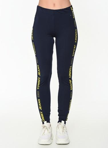 Tommy Hilfiger Kadın Tjw Sıde Tape Leggıngs Pantolon DW0DW05541 Siyah